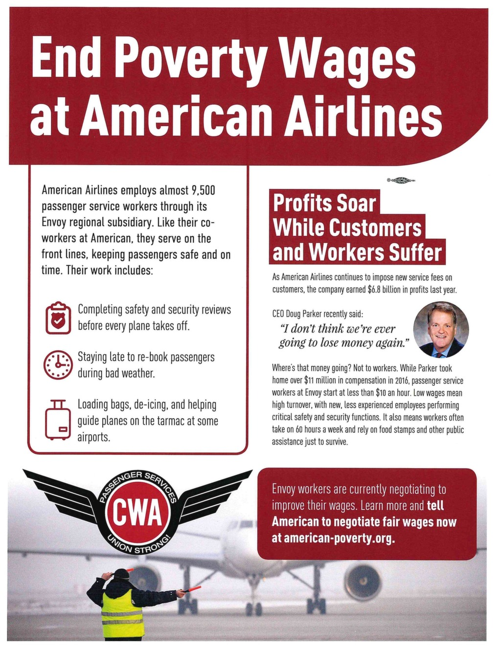 End Poverty Wages at American Airlines – CWA 9509